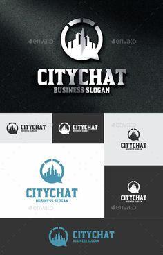 City Chat: Building Logo Design Template by djjeep. Real Estate Logo Design, Best Logo Design, Graphic Design, Logo Design Template, Logo Templates, Logos Ideas, Business Slogans, Building Logo, City Logo