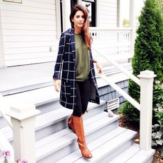 """The EASIEST way to dress up a comfy """"leggings and tee"""" day... A great light coat & fabulous pair o... #liketkit www.liketk.it/qls4 @liketkit"""