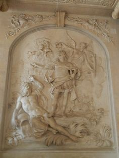 Relief Louis XIV par Antoine Coysevaux - Château de Versailles