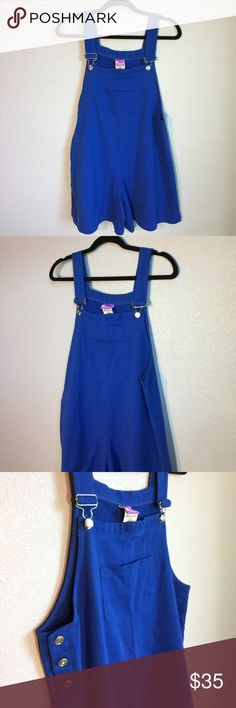 Vintage Retro 90s Royal Blue Romper Overalls Vintage Retro 90s Royal Blue Romper Overalls | Size: Small/Medium (Women's) | 80% Cotton, 20% Polyester | Condition: Pre-owned (Like-new! No flaws! Barely any signs of wear!) Vintage Other