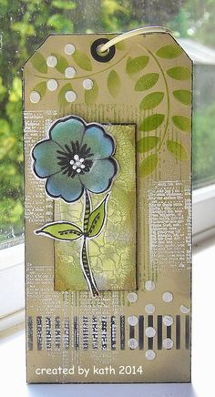 Kath's Blog......diary of the everyday life of a crafter: Textured Tag Book...