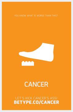 Betype Agaisnt Cancer by Byron Galán, via Behance