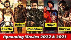 Prabhas, Karthi, Dhruva Sarja, Kunchacko Boban, Diljit Dosanjh Upcoming Movies 2022 | Coming Next 1