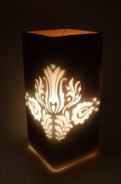 Lampshade with traditional design Lámpabetét_magyar motívum, Magyar motívumokkal, Otthon, lakberendezés, Dekoráció, Lámpa, Meska