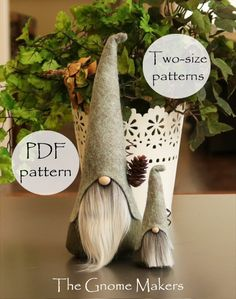 NORDIC Gnomes PDF Sewing Pattern in Two Sizes Nisse Tomte | Etsy
