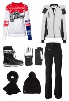 """""""Skiing"""" by petranaulicna on Polyvore featuring Topshop, Rossignol, Moon Boot, Fendi and UGG"""
