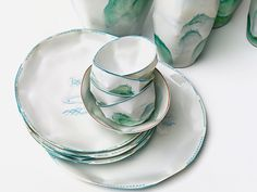 Lightscape by Nymphenburg. Inspired by the Far East, Argentinian designer, Ruth Gurvich created her Lightscape designs in collaboration with Nymphenburg. Each piece was first molded in paper and then handcrafted in porcelain. Delicate Asian landscapes adorn these beautiful vessels.