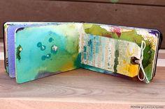 Art journal mini tag book