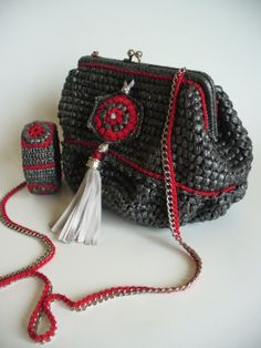 ISHTAR crochet purse and bracelet.