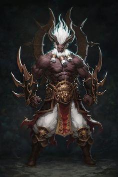 Ogre or demon vajra visions - art & inspiration fantasy art, Fantasy Character Design, Character Concept, Character Art, Concept Art, Fantasy Monster, Monster Art, Dark Fantasy Art, Fantasy Artwork, Creature Concept
