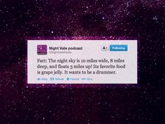 Welcome to Night Vale Photo: Night Vale quote