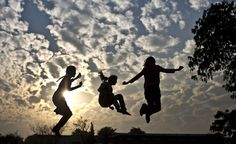 Pakistani girls enjoy jumping on a trampoline after paying 10 rupees (16 cents) per 10 minutes in Islamabad, Pakistan.
