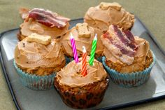 Bacon Peanut Butter Pupcakes: This is a recipe for your furry friends… because they need to celebrate, too!