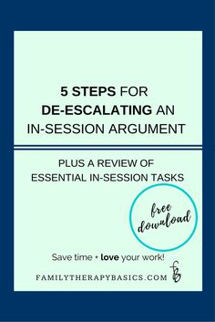 Ever found yourself lost when an argument develops during therapy? Then this post is for you! Follow these 5 steps to manage the escalation and leave your clients feeling confident. Click through for the article and the free list.