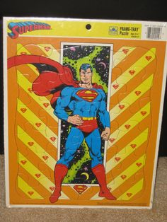 1988 Superman Frame Tray Puzzle Sealed by RetroPlayland on Etsy, $19.99