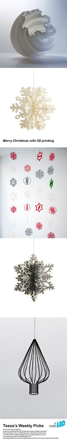 Happy holiday season!!! 3D Printed Christmas Themed Designs, Tessa's Weekly Picks