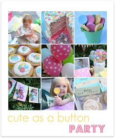 Cute as a button party