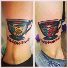 "American Traditional style teacup tattoo - I would like to get something like this along with the saying ""She's whiskey in a teacup."" The teacup would have to be tilted and look like it is full of whiskey."