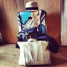 Ready to travel (Maison Michel Hat, Hermes and Pierre Hardy Bags, Tumi Luggage)