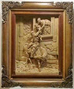 Возвращение итальянца с охоты   Резьба по дереву, кости и камню