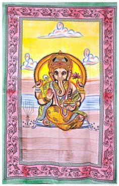 Twin Indian Lord Ganesha Hippie bohomian Tapestries Wall Hanging Urban Bedspread #Unbranded #ArtDecoStyle