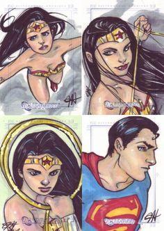 DC Comics: Legacy sketch cards by jessasketch on deviantART