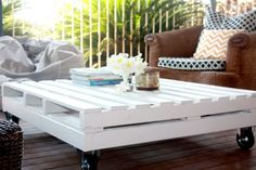 A huge number of recycled pallet table ideas are available which can enhance the beauty of your house too. If you have a pallet wood in your house which is of Diy Outdoor Furniture, Diy Pallet Furniture, Furniture Making, Furniture Ideas, Coffee Table Plans, Outdoor Coffee Tables, Wood Pallet Tables, Wood Pallets, Outdoor Pallet