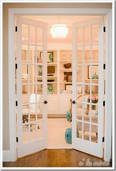 LOVE french doors! I want these off the entry way to the dining room, an to the sitting room!