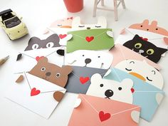 Heart Animal Message Card