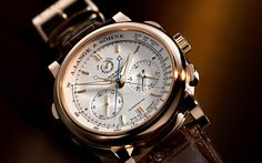 """Lange &Sohne """"classic"""" datograph from 1999 High End Watches, Fine Watches, Cool Watches, Wrist Watches, Men's Watches, Elegant Watches, Stylish Watches, Luxury Watches For Men, Gold Pocket Watch"""