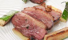Receta de Magret con patata y aguacate