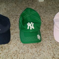Yankees hats Pink is youth size, others are women's. $45 for all 3 or $15 each Accessories Hats