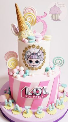 Le plus récent Instantanés torta lol Concepts Doll Birthday Cake, Funny Birthday Cakes, 6th Birthday Parties, Lol Doll Cake, Surprise Cake, Doll Party, Lol Dolls, Girl Cakes, Pretty Cakes