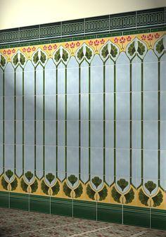 Carrelage Mural En Ceramique Art Nouveau F 29 Golem Kunst Und