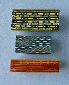 More Polymer Clay Border Canes by auntgriz, via Flickr