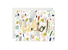 Confetti by Kate Pugsley for Red Cap Cards Kate Pugsley, Repeating Patterns, Confetti, Hand Lettering, Pattern Design, Poster, Doodles, Artsy, Greeting Cards