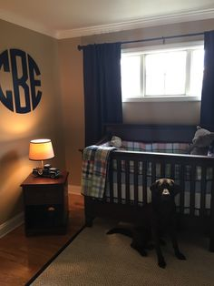 Boys nursery, Pottery Barn Kids, Madras, Man Monogram