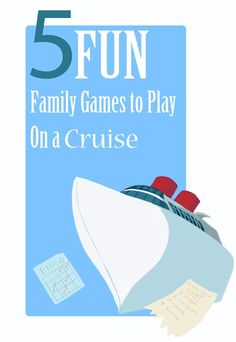 Cruising with family and friends is fun, and these games to play on a cruise will keep you connected and give you something special to do together! Love to travel and never been on a cruise? You have got to try it! It's one of the most relaxing ways to vacation!