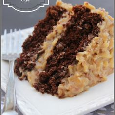"***Best Ever German Chocolate Cake~~  ""My Grandpa's Favorite""(San)~~ http://www.adashofsanity.com/2014/03/best-ever-german-chocolate-cake/"