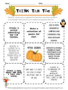 Free Fall freebie and a link-up with many other free resources.