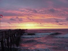 Avalon Pier in Kill Devil Hills--great place to watch beautiful sunrises like this one!