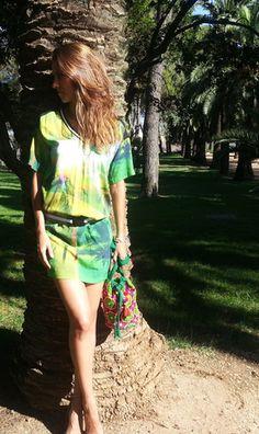 Vestido verde corto http://probandoropa.com/es/vestidos/vestido-verde-corto