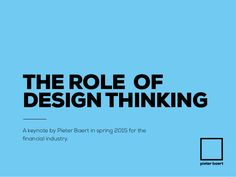 The role of Design Thinking