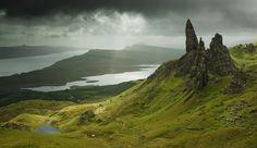 Старик и море; photograph by Natalia Ilina. Old man of Storr, Isle of Skye, Scotland