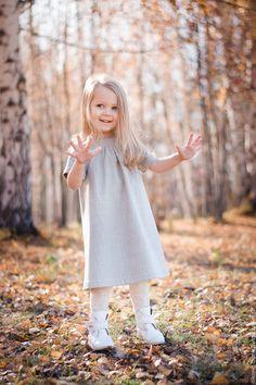 Woolen Dress | Детское осеннее зимнее тёплое платье, серое, нарядное, шерстяное в интернет магазине на Ярмарке Мастеров
