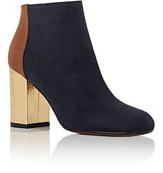 Marni Colorblocked Suede Ankle Boots