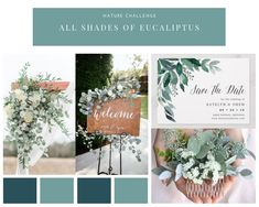 11 (or more ) shades of Eucalyptus to inspire the modern bride - TheKnotInItaly Ceremony Decorations, Table Decorations, Eucalyptus Leaves, Save The Date, Greenery, Bouquet, Inspire, The Incredibles, Shades