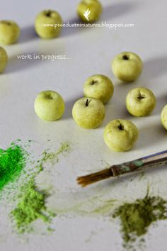 Pixie Dust Miniatures: My Workspace... making Candy Apples
