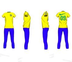 Camiseta Feminina Brasil