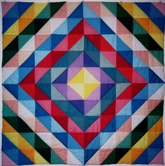 Optical illusion baby quilt for Coral
